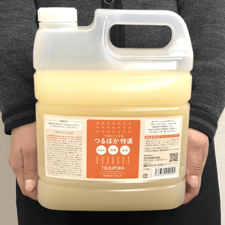 米ぬかと昆布の発酵・酵素入浴剤つるぽかのサイズ感
